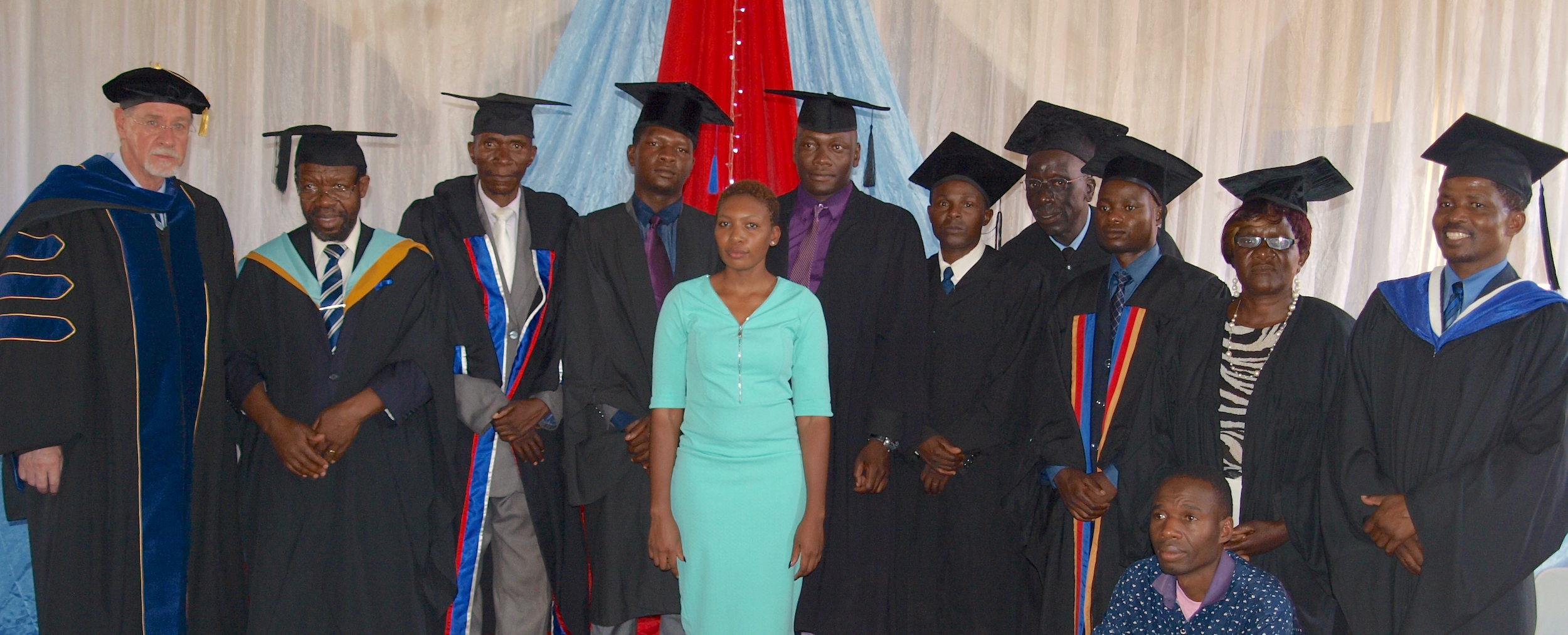Students and staff gather for the graduation ceremony